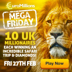 EuroMillions Mega Friday - 28th Feb