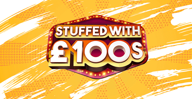 Scratchcard Stuffed with 100s