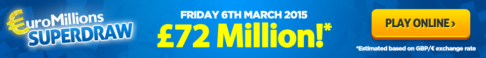 It's a EuroMillions Superdraw on Friday 6th March
