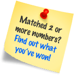 Matched 2 or more numbers? Find out what you've won!